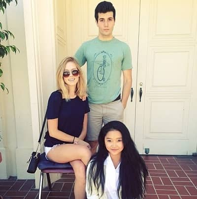To All the Boys Always and Forever Actress Lana Condor with mother Mary Condor and actor Joseph Monsour